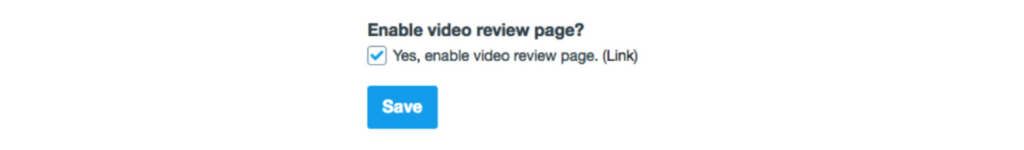 Enable Vimeo Video Review Page option