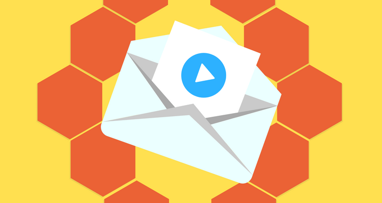 Video on in email illustration