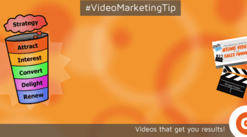 Using video in the sales funnel orange background