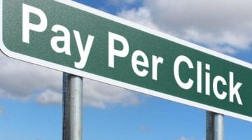 Pay per click on road sign