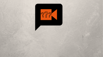 Question marks in orange camera icon