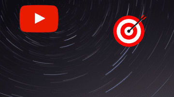YouTube logo and target icon