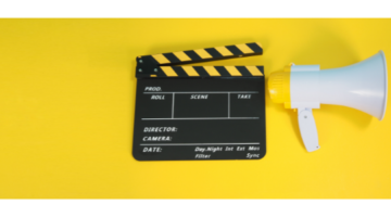 Megaphone and Clapperboard